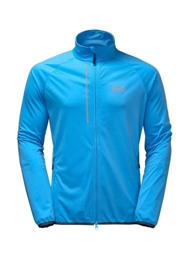 Jack Wolfskin Cusco Trail Softshell Erkek Rüzgarlık - 1304891-1651 Mavi